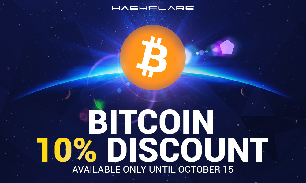 Discount for payment by Bitcoin